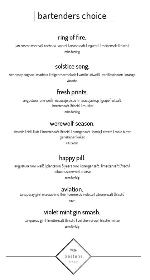 cocktailbar menu rezepte karte cocktails wien