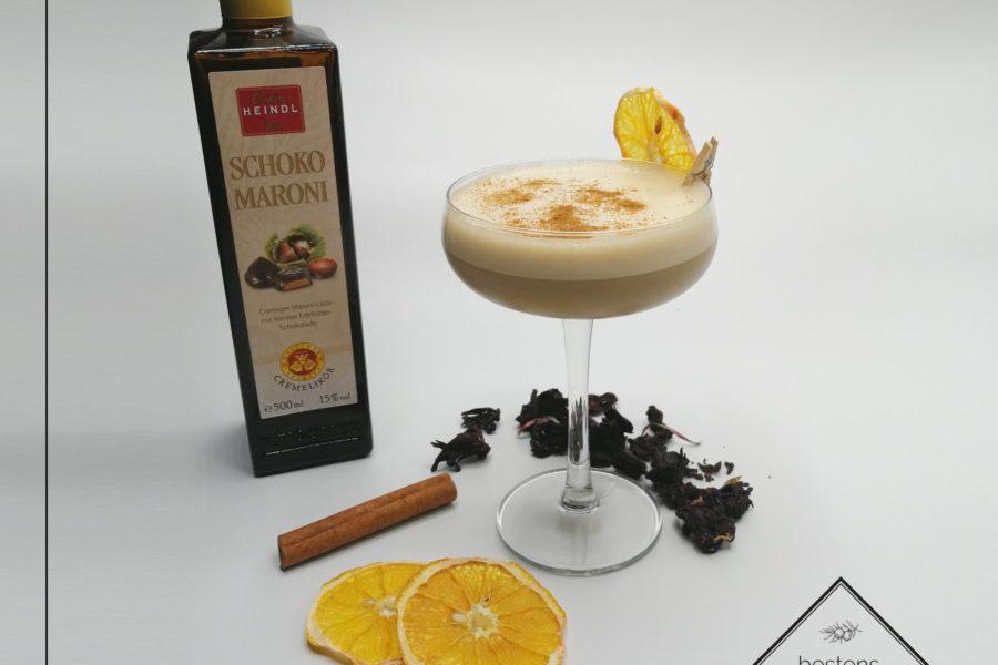 Signature Cocktail | Maroni Bratapfel mit Schoko Maroni Likör