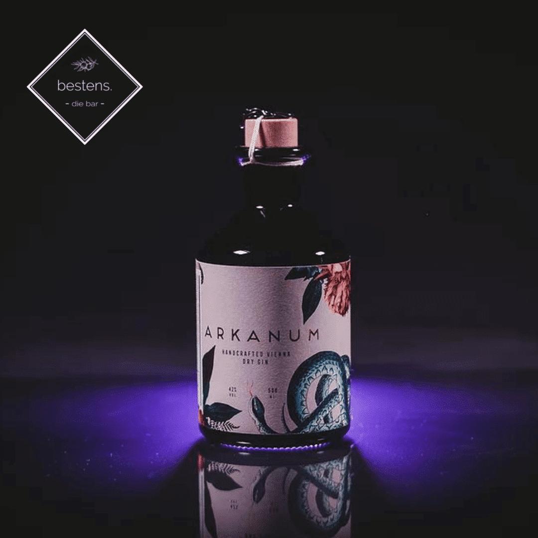 Arkanum gin in der bestens bar